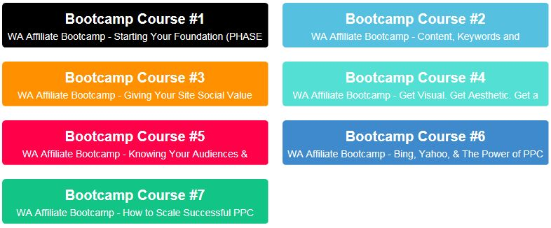 7 Courses of Bootcamp