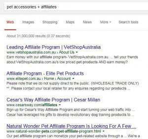 Affiliate Search