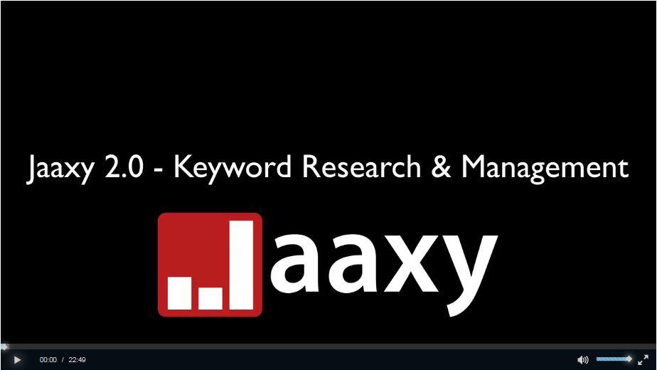 Jaxxy Keyword Research Training Video
