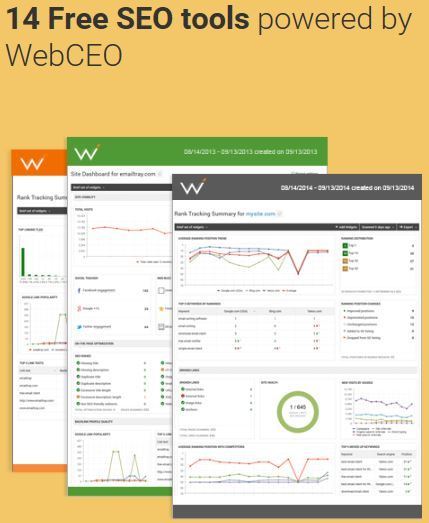 Web CEO Free Tools