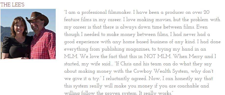 Cowboy Wealth Testimonials