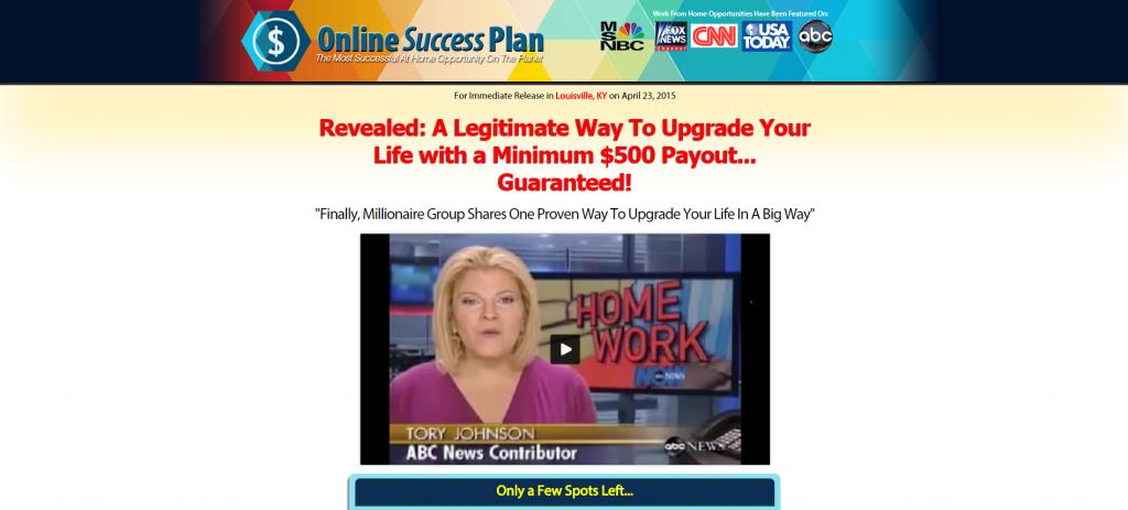 Online Success Plan News Feature