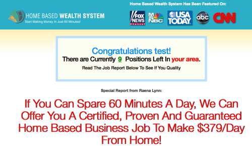 What Is the Home Based Wealth System Scam