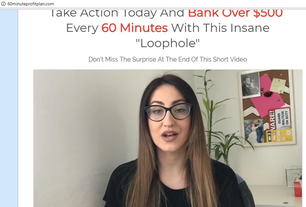 60 Minute Profit Plan Fake Testimonial 1