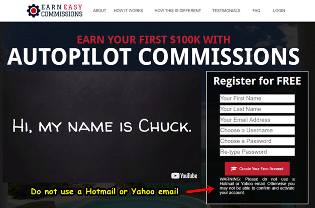 Earn Easy Commissions Is a Scam