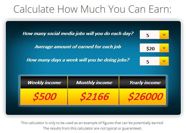 Paid Social Media Jobs Calculator