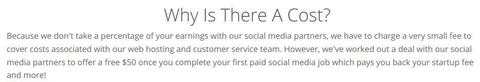 Paid Social Media Jobs Cost