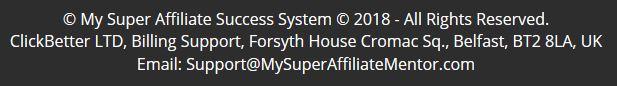 Super Affiliate Success System Details