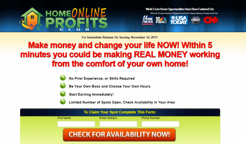 What Is Home Online Profits Club