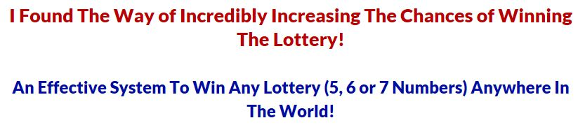 Win the Lottery Method Statements