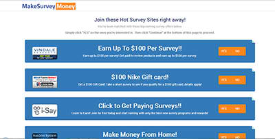 Make Survey Money Offers