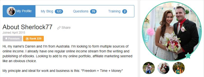 My Wealthy Affiliate Profile